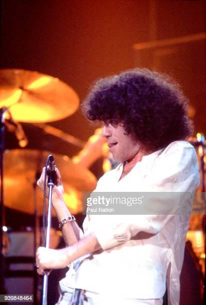 Singer Dan McCafferty of Nazareth performing at the Auditorium Theater in Chicago Illinois April 22 1977