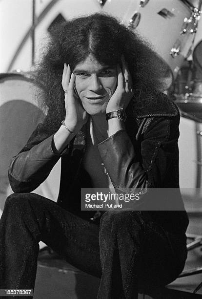 Singer Dan McCafferty of Scottish rock group Nazareth on the BBC TV music show 'Top Of The Pops' London 8th November 1973 The band will be miming to...