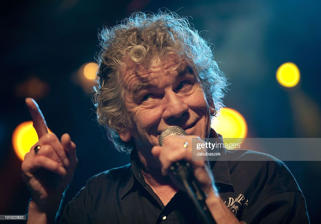Singer Dan McCafferty of the Scottish hard rock band Nazareth performs live during a concert at the Postbahnhof on April 27, 2010 in Berlin, Germany. The concert is part of the tour 2010.