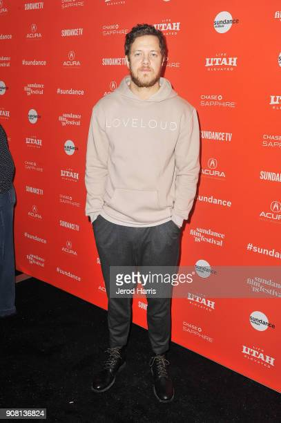Singer Dan Reynolds attends the Believer premiere during the 2018 Sundance Film Festival at The Marc Theatre on January 20 2018 in Park City Utah