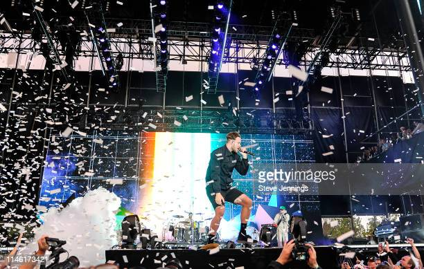 Singer Dan Reynolds of Imagine Dragons performs at BottleRock Napa Valley 2019 on Day 1 at Napa Valley Expo on May 24 2019 in Napa California