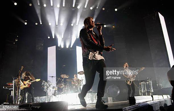 Singer Dan Reynolds of Imagine Dragons performs at Time Warner Cable Arena on July 7 2015 in Charlotte North Carolina