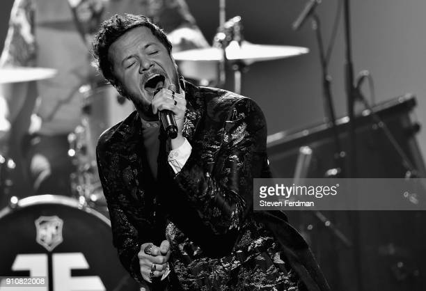 Singer Dan Reynolds of Imagine Dragons performs onstage during MusiCares Person of the Year honoring Fleetwood Mac at Radio City Music Hall on...