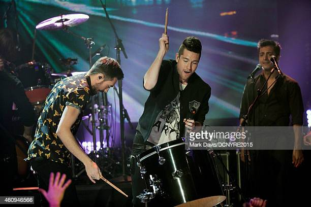 Singer Dan Smith of Bastille performs at Dick Clark's New Year's Rockin' Eve With Ryan Seacrest 2015 at CBS Television City in Los Angeles California...