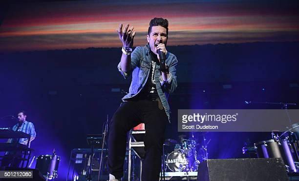 Singer Dan Smith of Bastille performs onstage at The Forum on December 12, 2015 in Inglewood, California.