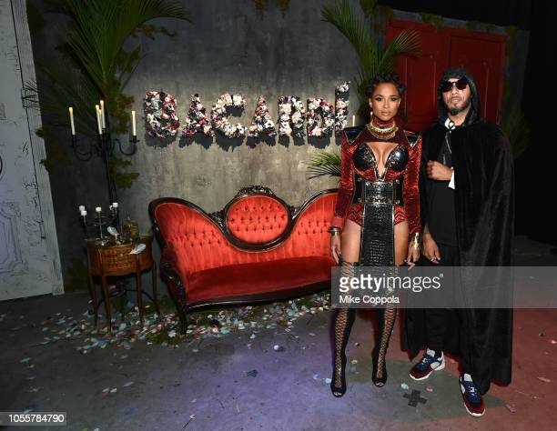 Singer dancer Ciara and DJ producer Swizz Beatz attend as BACARDI presents Liberate Your Spirits With Ciara For Halloween on October 30 2018 in New...