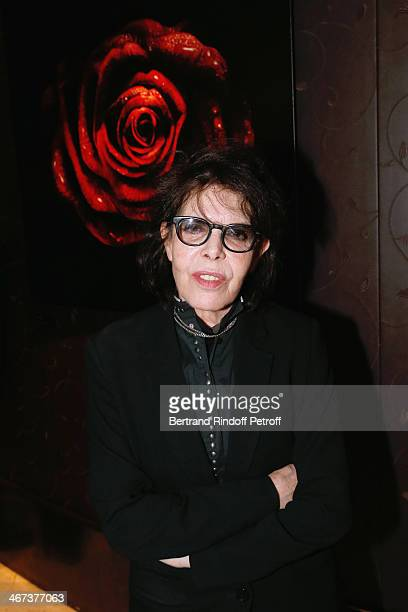 Singer Dani attends the Arthur Aubert Exhibition private view Held at Le Fouquet's Barriere Hotel on February 6 2014 in Paris France