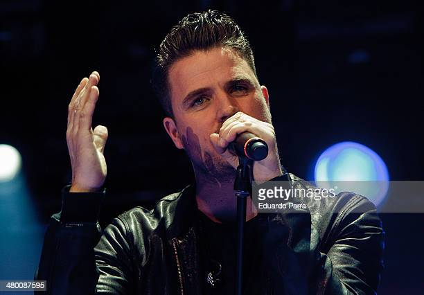 Singer Dani Martin performs live in 'La noche de Cadena 100' at Madrid Sports Palace on March 22 2014 in Madrid Spain