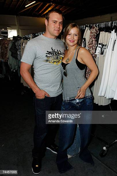 Singer Daniel Bedingfield and Jessi Collins attend the Billion Dollar Babes event at Ivar Studios on June 8 2007 in Hollywood California
