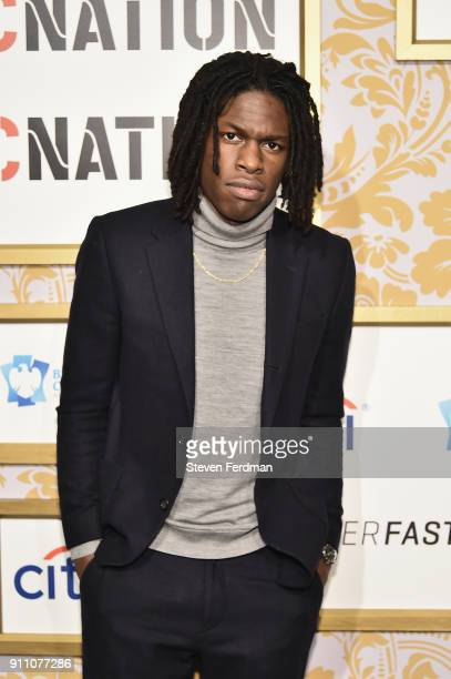 Singer Daniel Caesar attends the 2018 Roc Nation PreGrammy Brunch at One World Trade Center on January 27 2018 in New York City