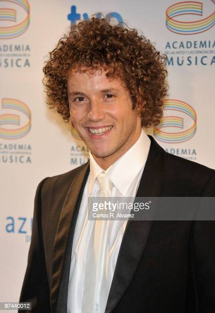 Singer Daniel Diges attends Premios de la Musica awards at Calderon Theater on March 4 2010 in Madrid Spain