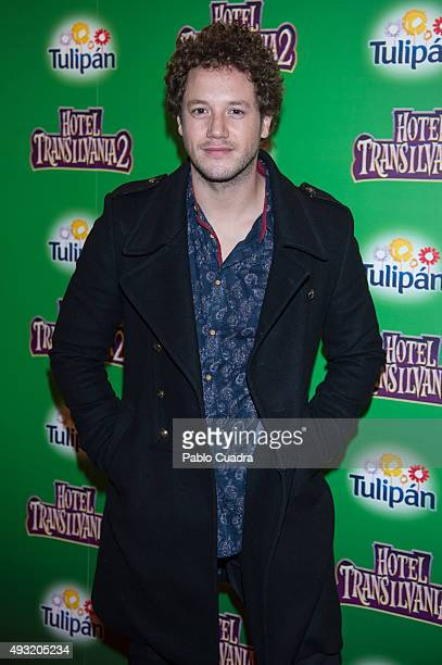 Singer Daniel Diges attends the 'Hotel Transilvania 2' premiere at the Capitol cinema on October 17 2015 in Madrid Spain