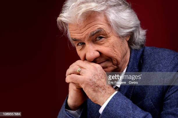 Singer Daniel Guichard poses during a portrait session in Paris France on
