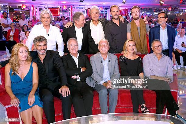Singer Daniel Guichard presenter of the show Michel Drucker singer Pierre Perret humorist Fred Testot singer Sean Hutchinson and Pierre Jolivet...