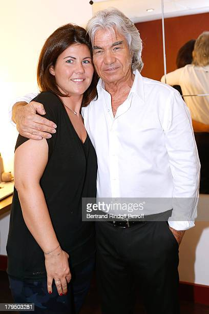 Singer Daniel Guichard with his daughter Emmanuelle attend 'Vivement Dimanche' French TV Show at Pavillon Gabriel on September 4 2013 in Paris France