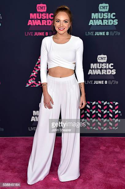 Singer Danielle Bradbery attends the 2016 CMT Music awards at the Bridgestone Arena on June 8 2016 in Nashville Tennessee