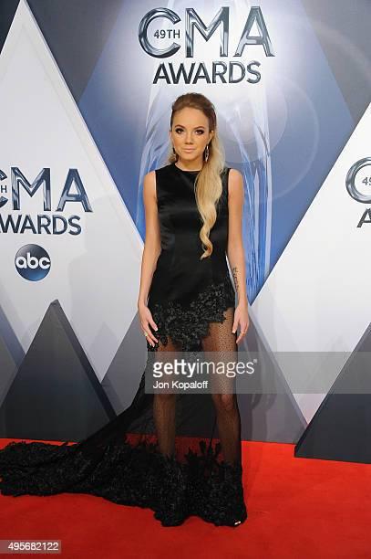 Singer Danielle Bradbery attends the 49th annual CMA Awards at the Bridgestone Arena on November 4 2015 in Nashville Tennessee