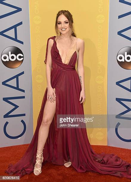Singer Danielle Bradbery attends the 50th annual CMA Awards at the Bridgestone Arena on November 2 2016 in Nashville Tennessee