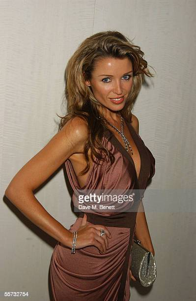 Singer Dannii Minogue attends the 20th Anniversary Party for shoe designer Patrick Cox at Nobu, Berkeley Street on September 20, 2005 in London,...
