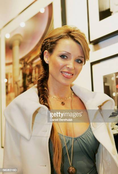Singer Dannii Minogue attends the Be Cointreauversial Private View at the Getty Images Gallery on November 3 2005 in London England