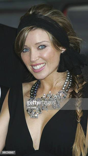 Singer Dannii Minogue attends the launch of the new Sky TV service available on Vodafone live! handsets, at Gloucester Road on October 31, 2005 in...
