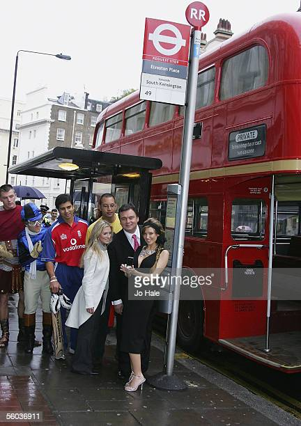 "Singer Dannii Minogue, TV presenter Eamonn Holmes, presenter Georgie Thompson , former ""Big Brother"" contestant Jon Tickle and England cricketer..."