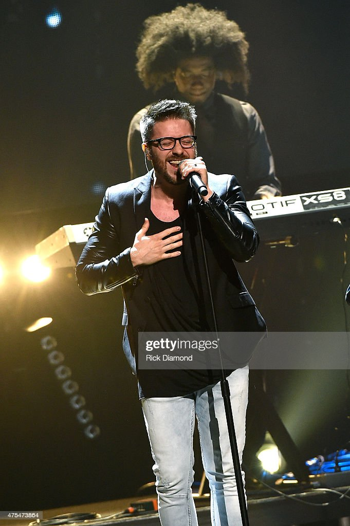 Singer Danny Gokey performs onstage during the 3rd Annual KLOVE Fan Awards at the Grand Ole Opry House on May 31, 2015 in Nashville, Tennessee.