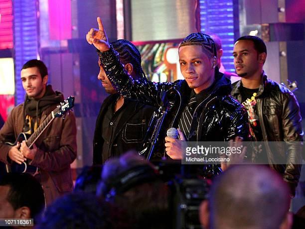 Singer Danny Mejia and Steven Tejada of Xtreme visit MTV's Mi TRL at MTV studios in Times Square on November 4 2008 in New York City