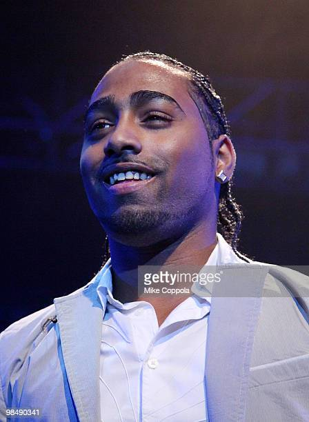 Singer Danny Mejia of the music group Xtreme performs at Nokia Theatre on April 15 2010 in New York New York