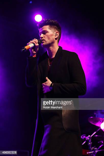 Singer Danny O'Donoghue of The Script performs at the kickoff concert for AWXI at Terminal 5 on September 29 2014 in New York City