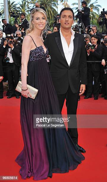 Singer Dany Brillant with Nathalie Moury attend the Wall Street Money Never Sleeps Premiere at the Palais des Festivals during the 63rd Annual Cannes...