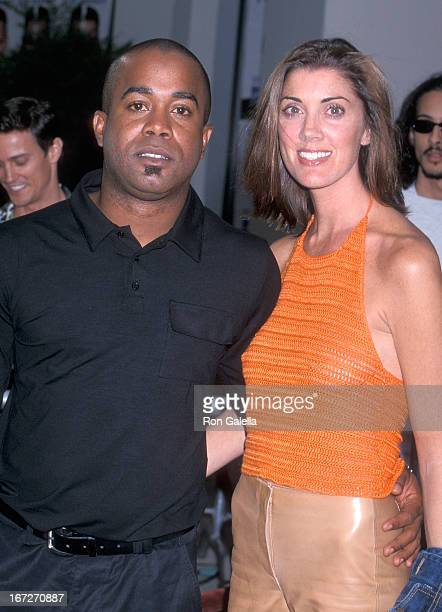 Singer Darius Rucker of Hootie the Blowfish and wife Beth Leonard attend the Me Myself Irene Westwood Premiere on June 15 2000 at the Mann Village...