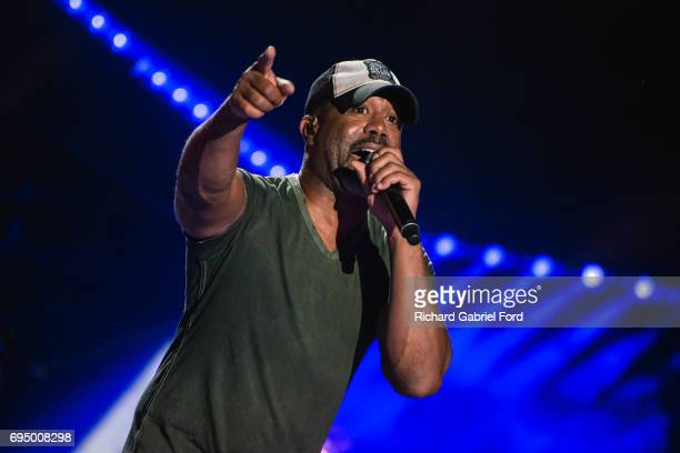 Singer Darius Rucker performs at Nissan Stadium during day 4 of the 2017 CMA Music Festival on June 11 2017 in Nashville Tennessee