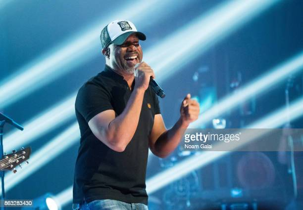 Singer Darius Rucker performs in concert at The Apollo Theater on October 19 2017 in New York City