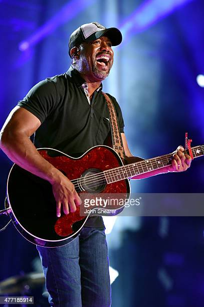 Singer Darius Rucker performs onstage during the 2015 CMA Festival on June 14 2015 in Nashville Tennessee