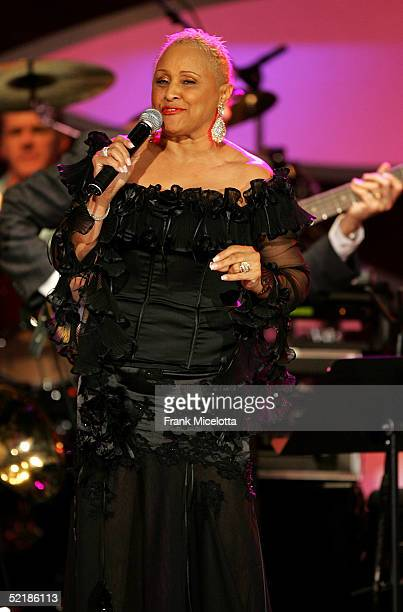 Singer Darlene Love peforms onstage at the MusiCares 2005 Person of the Year Tribute to Brian Wilson at the Palladium on February 11 2005 in...