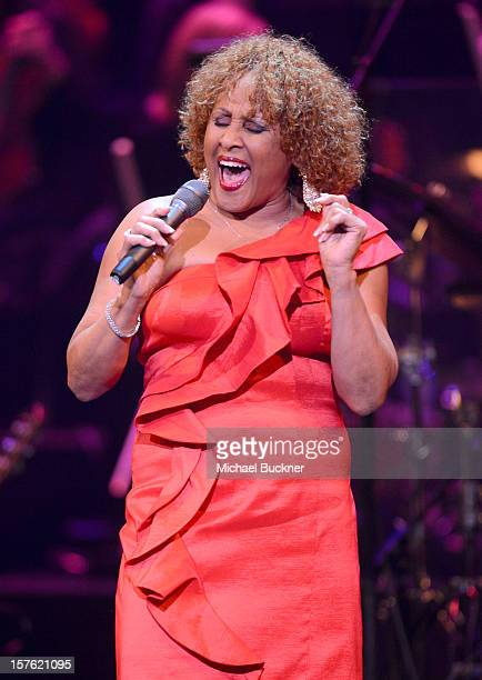 Singer Darlene Love performs onstage during a celebration of Carole King and her music to benefit Paul Newman's The Painted Turtle Camp at the Dolby...