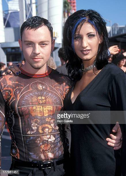 Singer Darren Hayes of Savage Garden and wife Colby Taylor attend the 15th Annual MTV Video Music Awards on September 10, 1998 at Universal Studios...