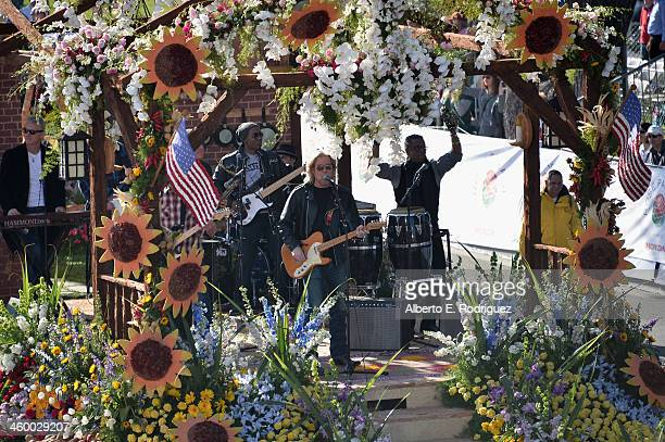 Singer Daryl Hall performs on the RFDTV float at the 125th Tournament of Roses Parade Presented by Honda on January 1 2014 in Pasadena California