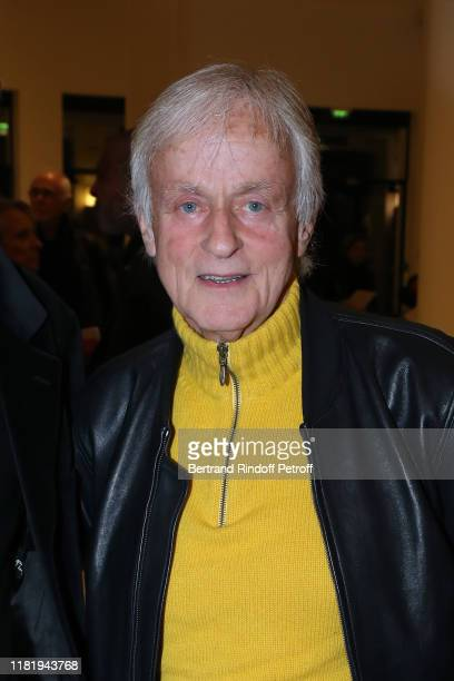 Singer Dave attends Hugues Aufray performs at Salle Pleyel on October 18 2019 in Paris France