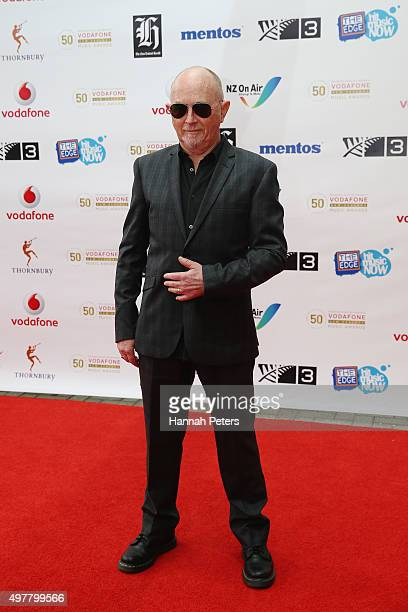 Singer Dave Dobbon poses for a photo on the red carpet at the Vodafone New Zealand Music Awards at Vector Arena on November 19 2015 in Auckland New...