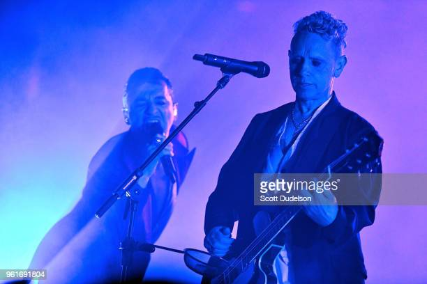 Singer Dave Gahan and Martin Gore of the band Depeche Mode perform onstage during the opening night of the 2018 North American 'Global Spirit Tour'...