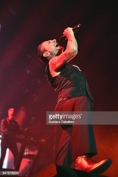 Singer Dave Gahan of Depeche Mode performs at American Airlines Arena on September 15 2017 in Miami Florida