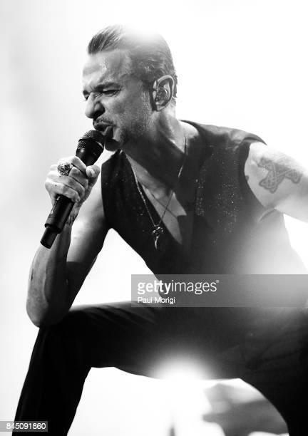Singer Dave Gahan of Depeche Mode performs during the Global Spirit Tour at Madison Square Garden on September 9, 2017 in New York City.