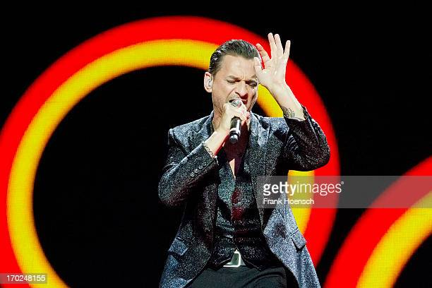 Singer Dave Gahan of Depeche Mode performs live during a concert at the Olympiastadion on June 9 2013 in Berlin Germany