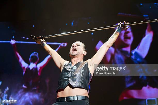 Singer Dave Gahan of Depeche Mode performs live during a concert at the O2 World on November 25 2013 in Berlin Germany