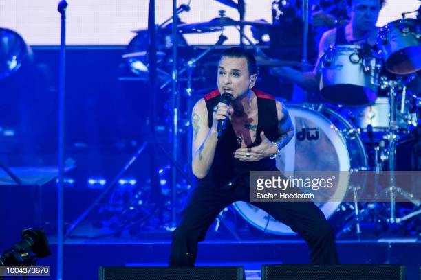 Singer Dave Gahan of Depeche Mode performs live on stage during a concert at Waldbuehne on July 23 2018 in Berlin Germany