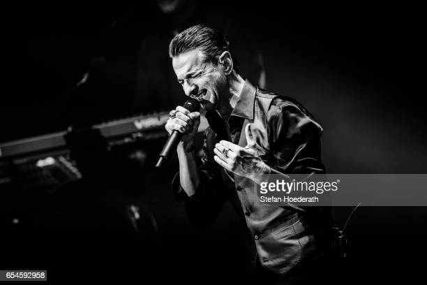 Singer Dave Gahan of Depeche Mode performs live on stage during Telekom Street Gig at Funkhaus Berlin on March 17 2017 in Berlin Germany