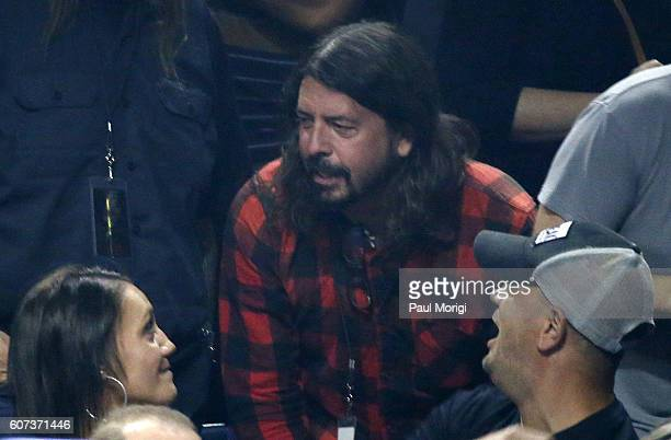 Singer Dave Grohl of The Foo Fighters attends the AC/DC Rock or Bust Tour Washington DC show at the Verizon Center on September 17 2016 in Washington...