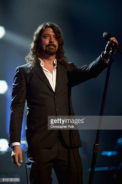Singer Dave Grohlperforms onstage during the 2016 MusiCares Person of the Year honoring Lionel Richie at the Los Angeles Convention Center on...